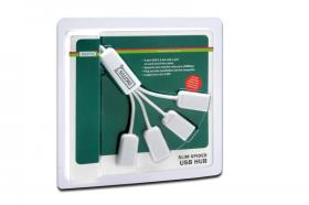 Digitus DA-70216 Slim Spider USB Hub 4-port White